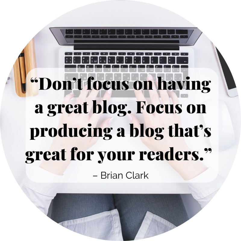 focus on starting a business blog for your readers
