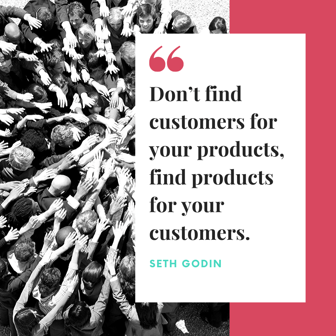target audience quote seth godin