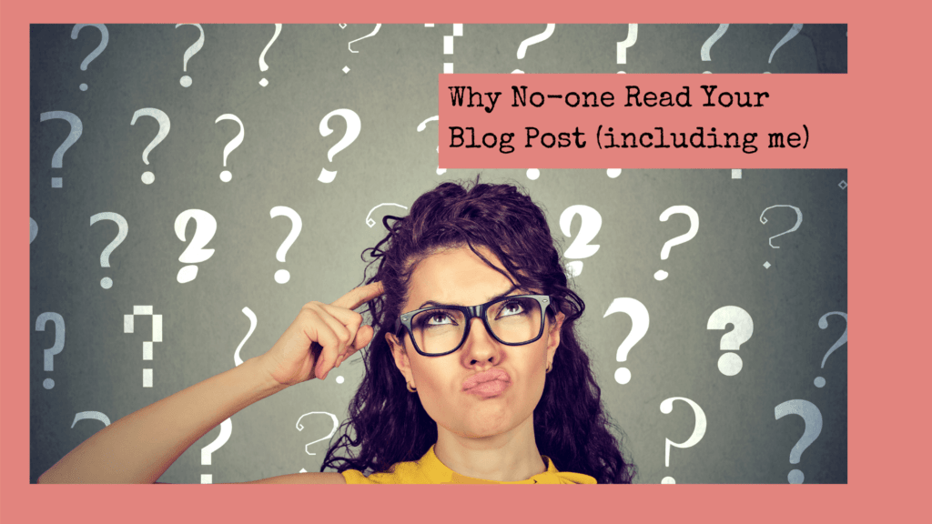 Why noone reads your blog post